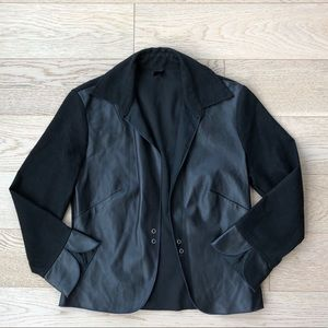 Poleci Leather Blend Blazer
